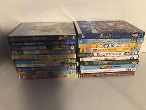 Lot of 20 DVDs Children's Kids Scoobie Doo Shrek Pocahontas Toy Story Bug's Life