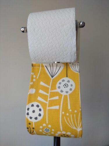 Amarillo mostaza Soporte para papel higiénico colgando Tela Organizador Almacenamiento//1-2 Rollo