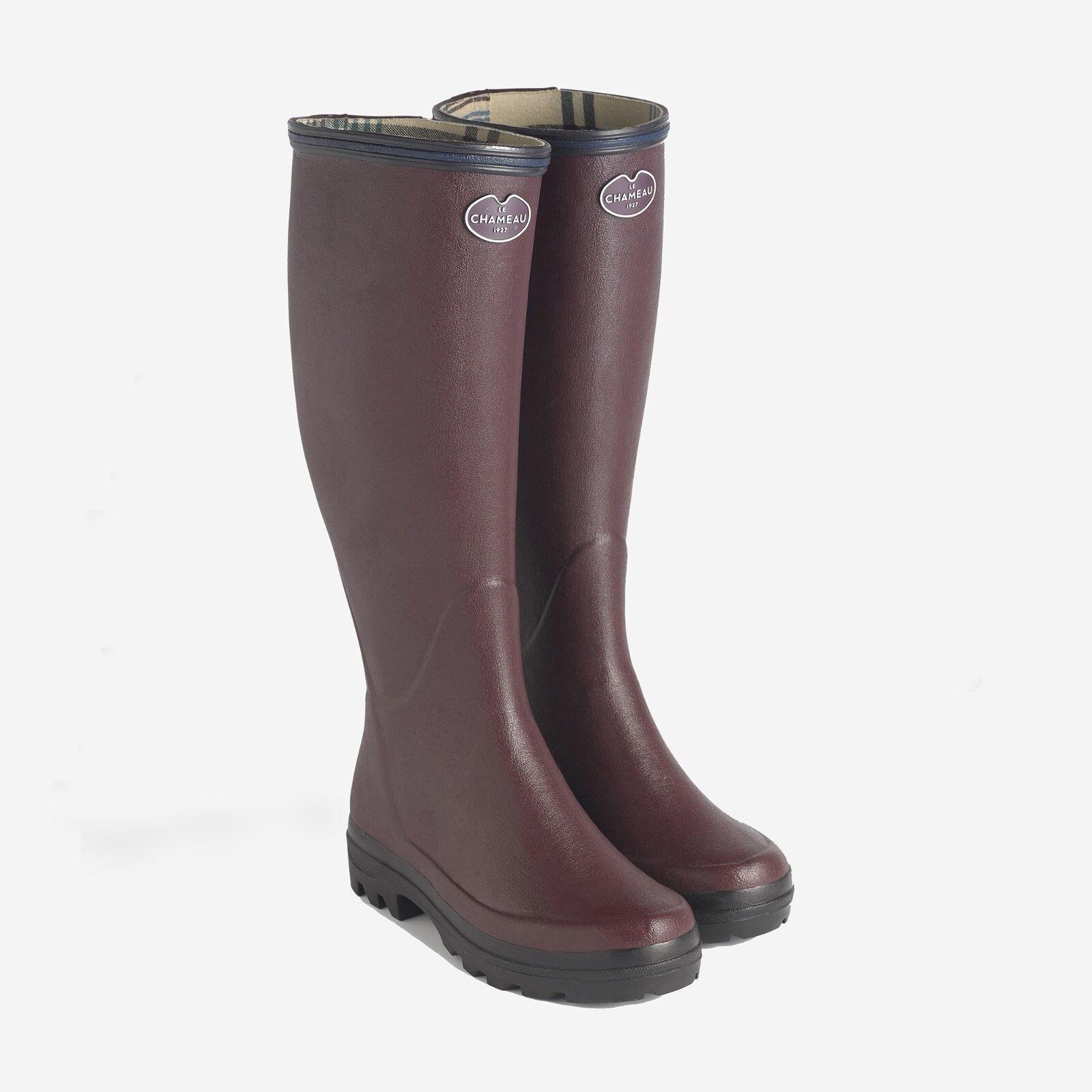 Le Chameau Giverny Cereza algodón señoras Forrado Wellingtons botas GRATIS UK FRANQUEO