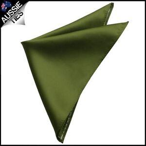 Mens-Olive-Green-Pocket-Square-Handkerchief-hanky-men-039-s