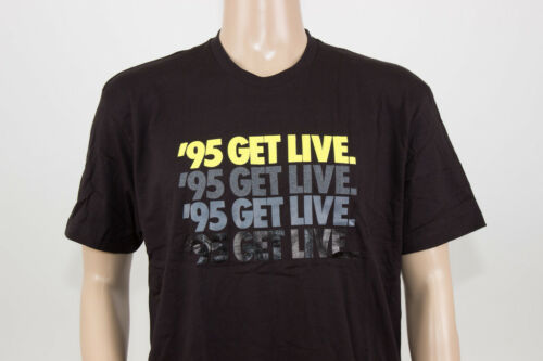 "LACELOCKED ""95 GET LIVE"" BLACK//NEON COTTON TEE SHIRT SZ XS-XXL"
