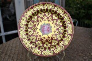Beautiful-Vintage-Cauldon-England-Gold-Orange-Plate-8-5-034
