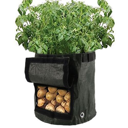 2pc Potato Grow Bag Plant Tomato Sack Spuds Root Pot Bags Vegetable Garden 7//10G