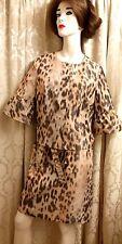Carlisle Womens leopard skirt Blazer suit SZ 10
