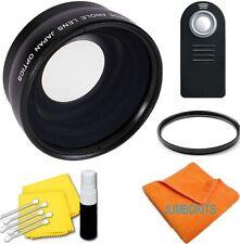 WIDE ANGLE Macro Lens +UV FILTER +REMOTE NIKON D5000 D5100 D5200 D90 D1 D40  D60