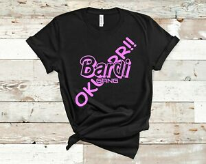 9613120d3 Image is loading Cardi-B-T-Shirt-Bardi-Gang-Hip-Hop-Women-