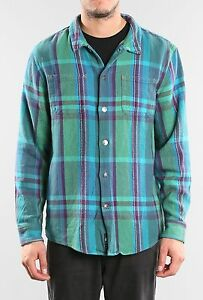 Camisa-Shirt-RUSTY-Talla-Size-L-RECO-LONG-SLEEVE-FLANNEL-SHIRT-DEEP-FOREST