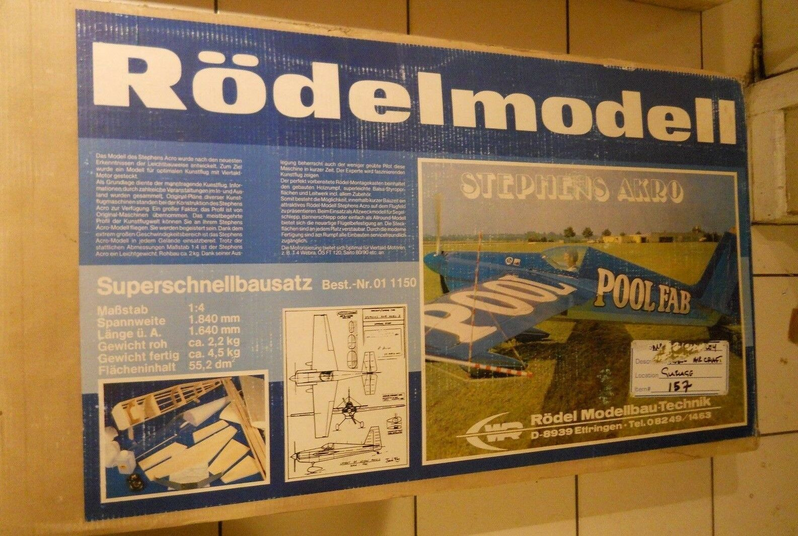 Rodelmodell Stephens Akro 1 4 Scale Almost Ready To Cover Kit 011150 Rare