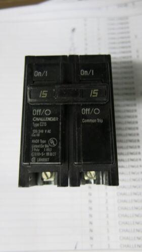 Challenger C215 15 Amp 2 Pole Circuit Breaker WARRANTY
