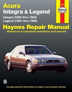 repair manual haynes 12021 fits 91 95 acura legend 38345120213 ebay rh ebay com 1994 Acura Legend 1989 Acura Legend