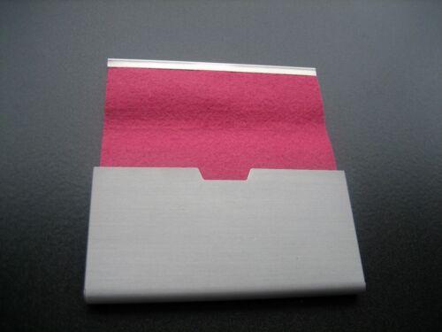 ab 3,50 € schöne Visitenkarten-Etuis zur Auswahl ALU mit Filz Neu