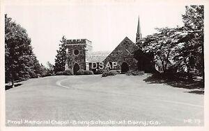 Georgia-Ga-Real-Photo-RPPC-Postcard-c1940s-MT-BERRY-Frost-Memorial-Chapel-School