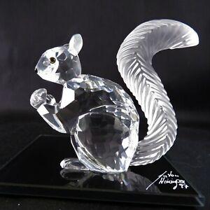 Swarovski-Figurine-10th-SCS-Anniversary-Squirrel-Retired-in-1997-with-Mirror