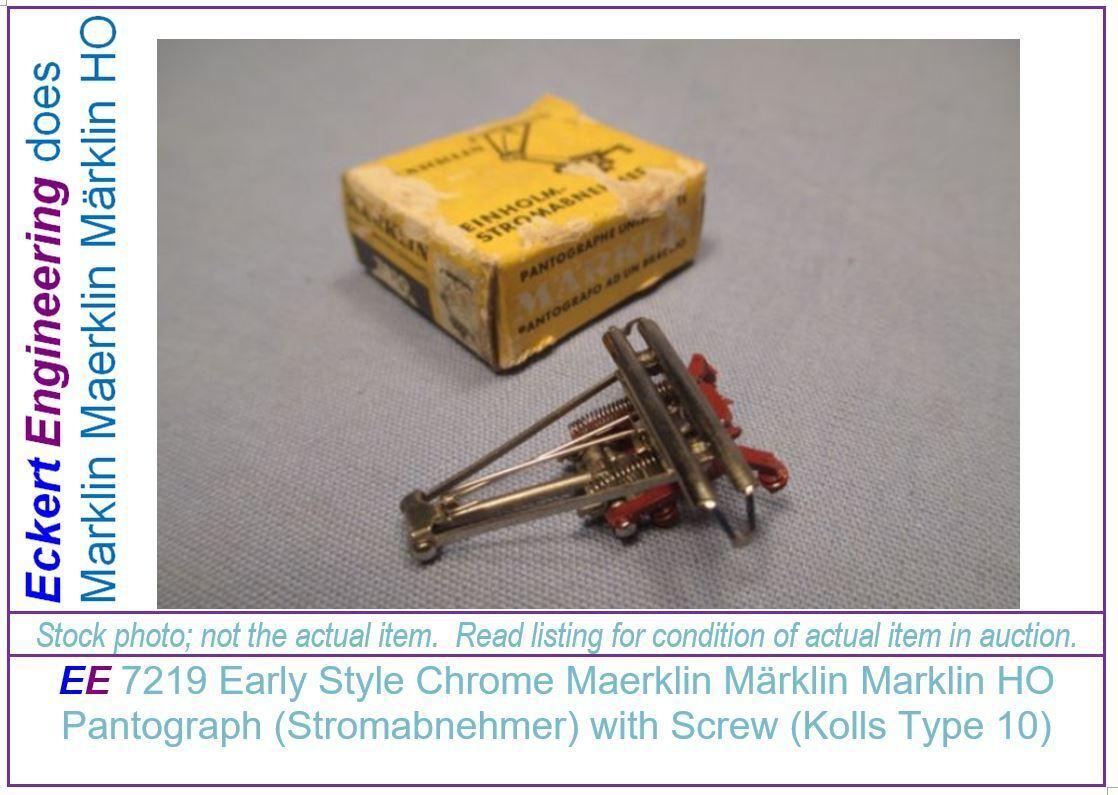 EE 7219 NEW Marklin HO SINGLE ARM Pantograph Einholmstromabnehmer Kolls Type 10
