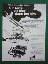 7/1984 PUB MBLE PHILIPS EMETTEUR RT 600 PRC/VRC-600 ARMEE BELGE DRONE FRENCH AD