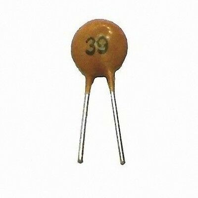 Lot of 50 Ceramic Capacitor 39pF 50V