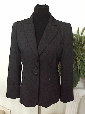 Clothing, Shoes & Accessories Women's Clothing Tahari Women's Occasion Gray Polyester Bend Blazer Jacket Size 8p Euc
