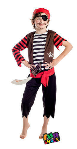 Pirate Boys Fancy Dress High Seas Caribbean Shipmate Kids World Book Day Costume