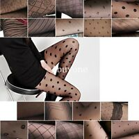 New Fashion Sexy Black Pattern Jacquard Pantyhose Tights
