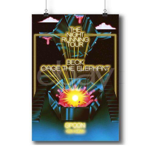 Beck Cage Tour The Night Running Tour New Custom Art Poster Print Wall Decor