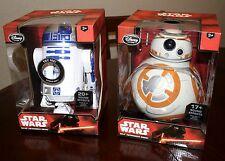 "Star Wars Exclusive 10 1/2"" R2-D2 & 9 1/2 BB-8 Talking Droid Figures Disney LOT"
