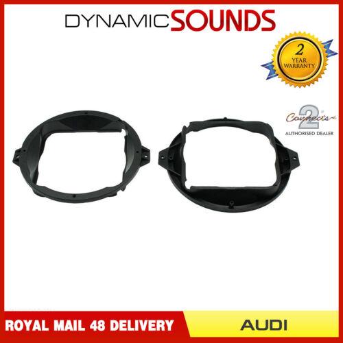 CT25AU04 165mm Rear Side Panel Stereo Speaker Adaptor Ring For Audi TT 1998-2000