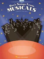 Boy's Songs From Musicals Vocal Collection Book And Cd 000001127