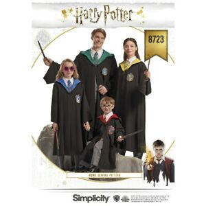 Simplicity sewing pattern 8723 enfant & adulte Harry potter ™ costumes