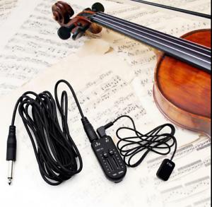 Guitar Violin Piezo Kontakt Pickup Transducer Volume Controller Audio Kabel