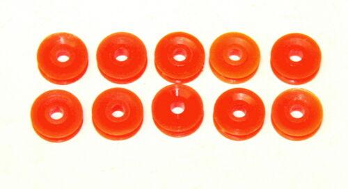 "Ten Meccano Part 23bp ½/"" Pulley Without Boss Orange Plastic Original"