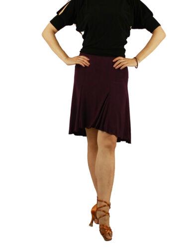 5 sizes sts011pu Purple New Women Latin Rhythm Salsa Tango Social Dance Skirt