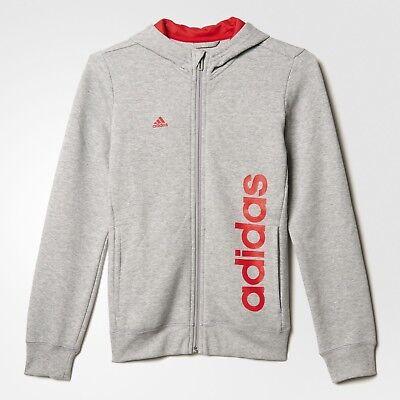 adidas girls zip up grey hoody. Tracksuit top. Hoodie. Sweat top. Various sizes!