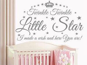 Details About Le Little Star Quote Kids Baby Nursery Wall Art Sticker Decal T11