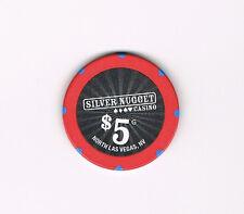 North Las Vegas, Nevada - Silver Nugget - $5 Casino Chip - Five Dollars