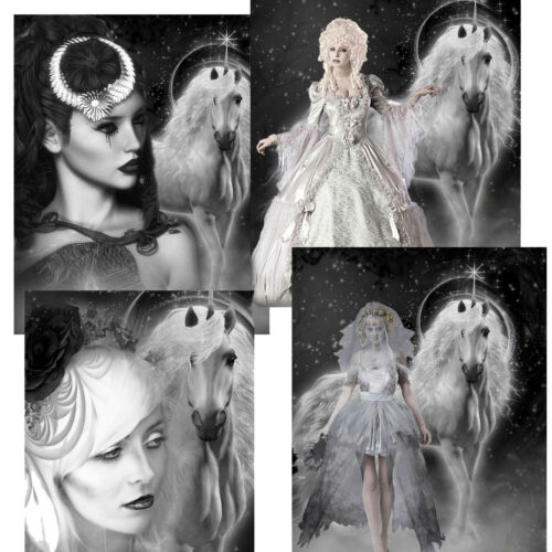 Gothic card toppers Women And Unicorns//Gothic Card Making//Gothic Goddess