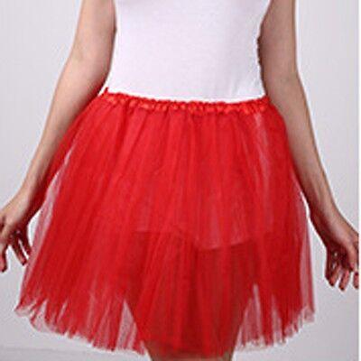 Adult Women Rainbow Tutu Tulle Petticoat Dance Rave Neon Party Halloween Skirt