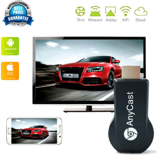 Cable AnyCast WiFi Display Dongle Receiver 1080P HDMI TV DLNA Airplay Miracast