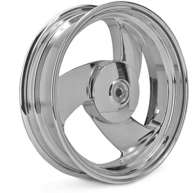 Llanta Trasera 13x3.5 Booster Aluminio Cromo