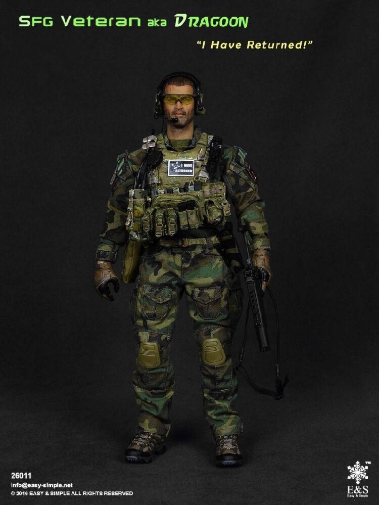 "1 6 Easy & Simple ES 26011 Army SFG Veteran aka Dragoon ""I Have Returned """