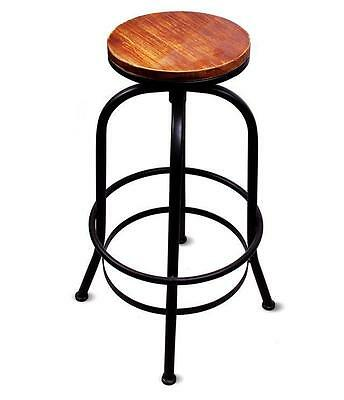 Bar Stool Urban Vintage Industrial Retro Adjustable Height Retro Pub Gastro Pub