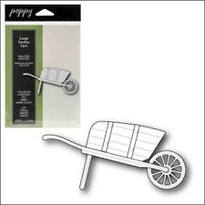 Large Garden Cart die Poppystamps cutting dies 1129 farm,garden,wheelbarrow