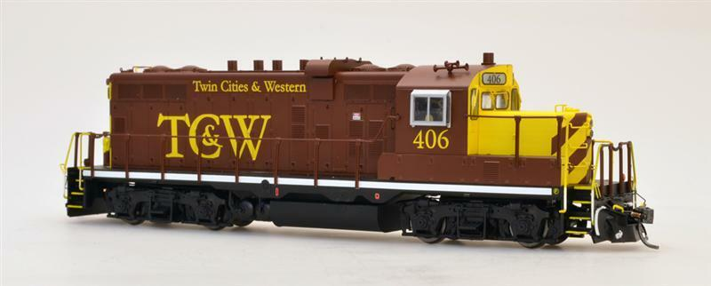 Intermountain gp10 dcc   kein ton lok twin cities & western tcwr tcw 49813   405 &