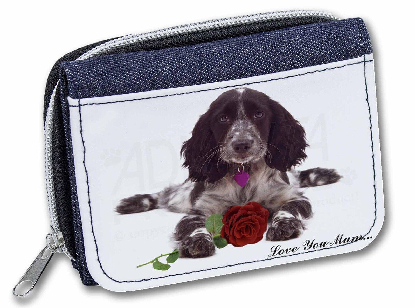 Cocker+Rose 'Love You Mum' Girls/Ladies Denim Purse Wallet Christ, AD-SC13RlymJW