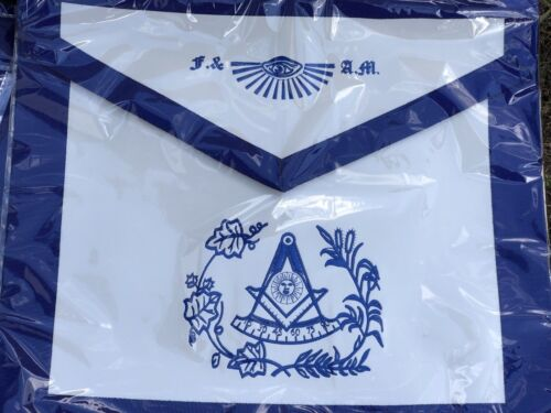 F./& A.M Leather Past Master Apron Master Mason with Pocket for Gloves