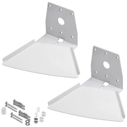 2x Swivel Wall Mount For Sonos PLAY 5 Gen 1 Speaker Durable Steel Design White