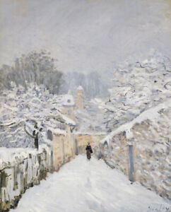 Alfred-Sisley-Snow-At-Louveciennes-Fine-Art-Print-on-Canvas-Giclee-Repro-Small
