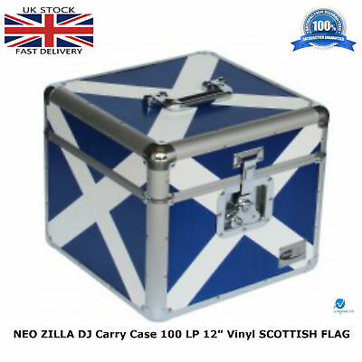 "Cases, Racks & Bags 2019 Fashion Neo Zilla Flight Dj Carry Case To Store 100 Lp 12"" Vinyl Record Scottish Flag Hot Sale 50-70% OFF"
