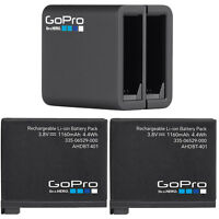 2 Gopro Original Rechargeable Battery + Gopro Dual Battery Charger For Hero4