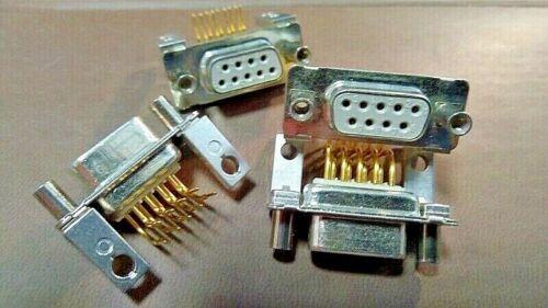 CONNETTORI DB9 FEMMINA PIN 90 ° PER PCB PIN PLACCATI ORO QTY: 5 PEZZI