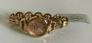NEW-FOSSIL-ROSE-GOLD-TONE-STAINLESS-STEEL-BRACELET-WATCH-BQ1602-115-SALE